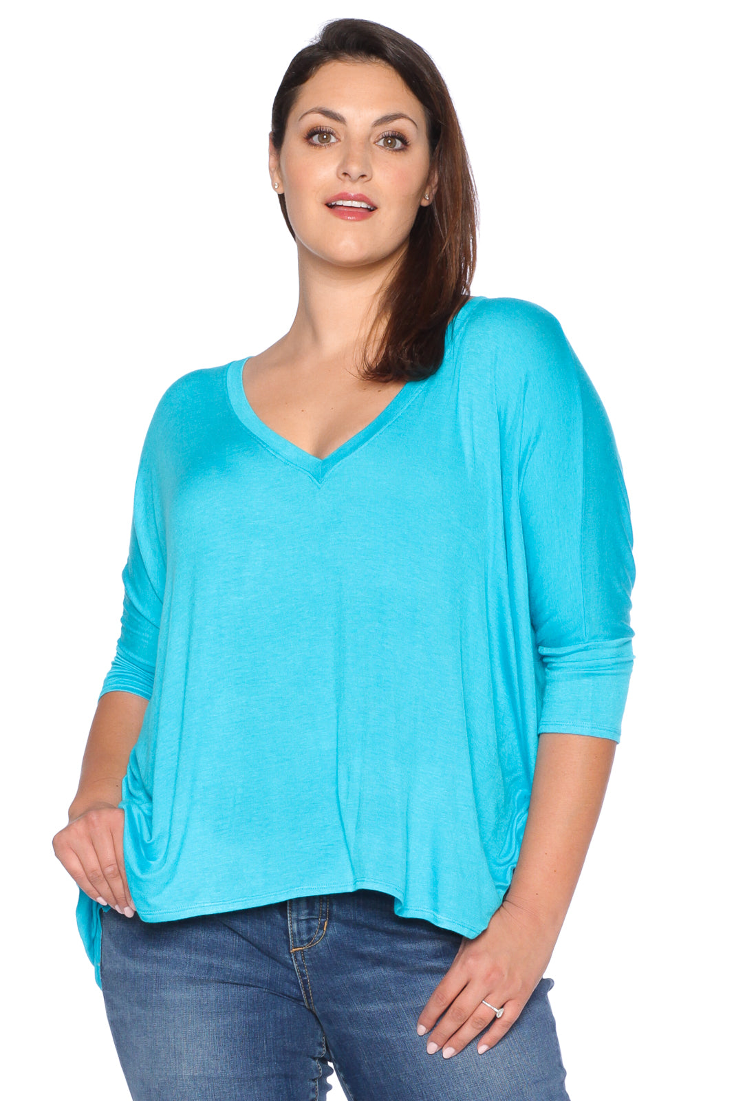 Oversized V-Neck Top