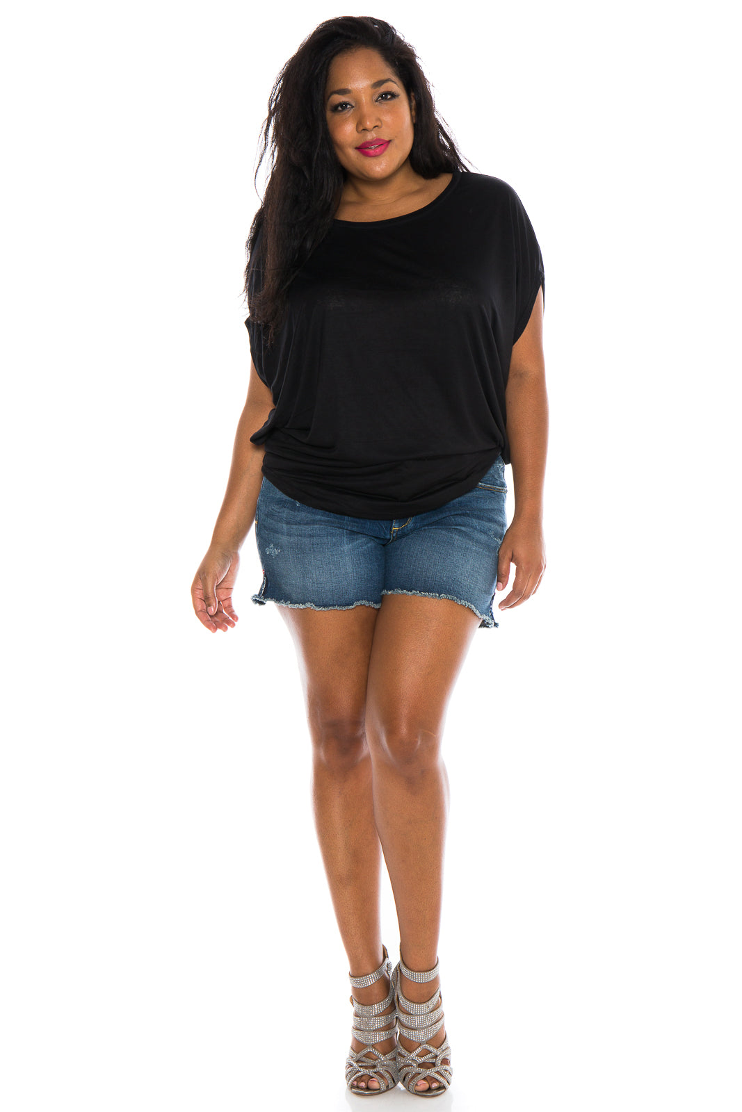 The Scoop Neck Dolman - BLACK