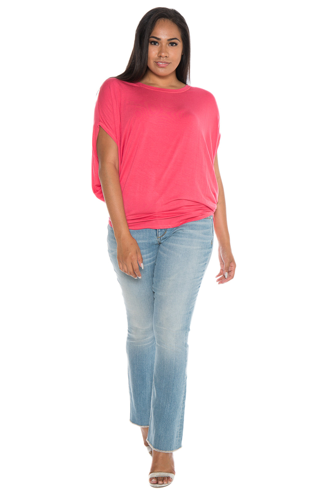 The Scoop Neck Dolman - CORAL