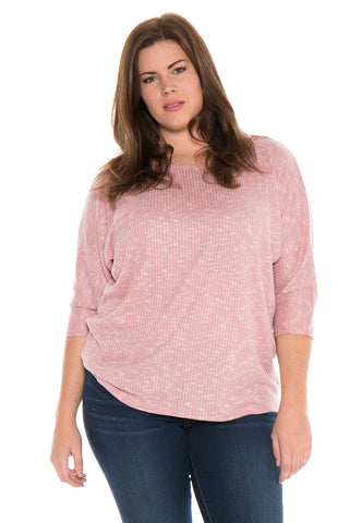 Dolman Sleeve Marble Knit Top