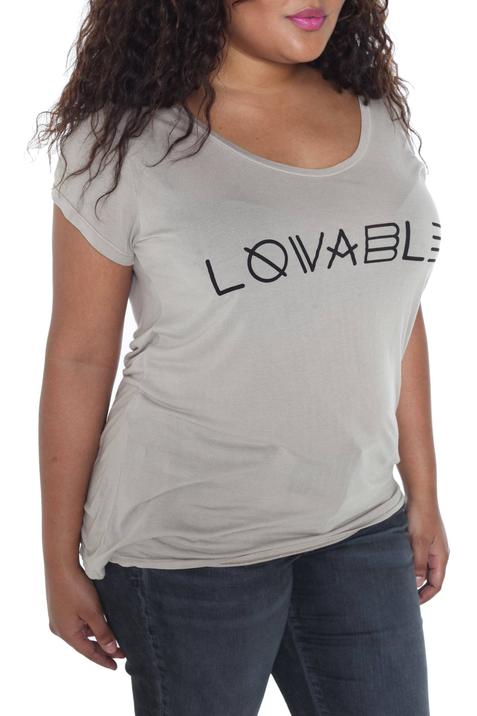 Scoop Neck Tee - LOVABLE