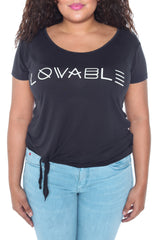 Side Knot Tee - BE LOVABLE