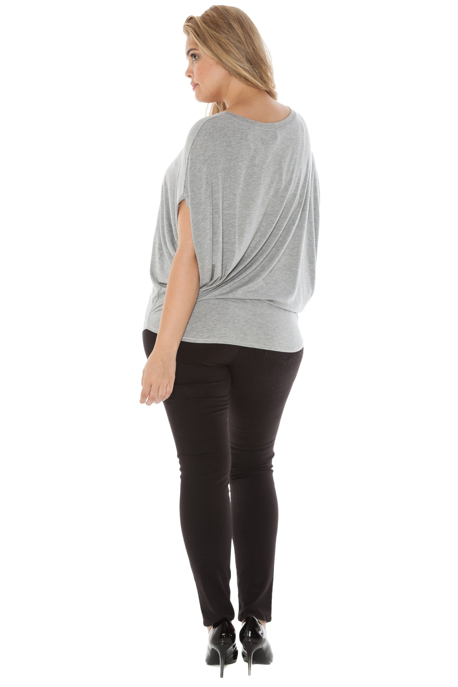 The Short Sleeve Scoop Neck Dolman Tee
