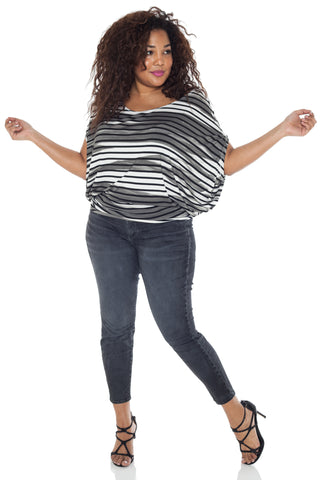 The Scoop Neck Dolman Tee