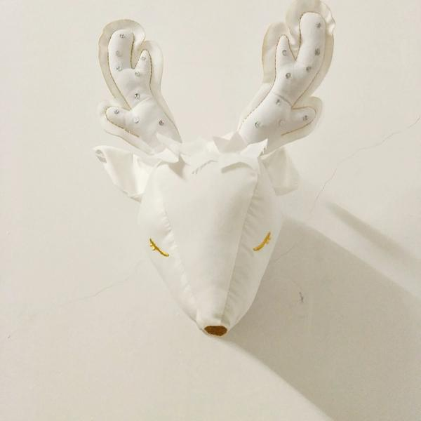 Kids Plush Deer Head Wall Mount Veronica Claire Home