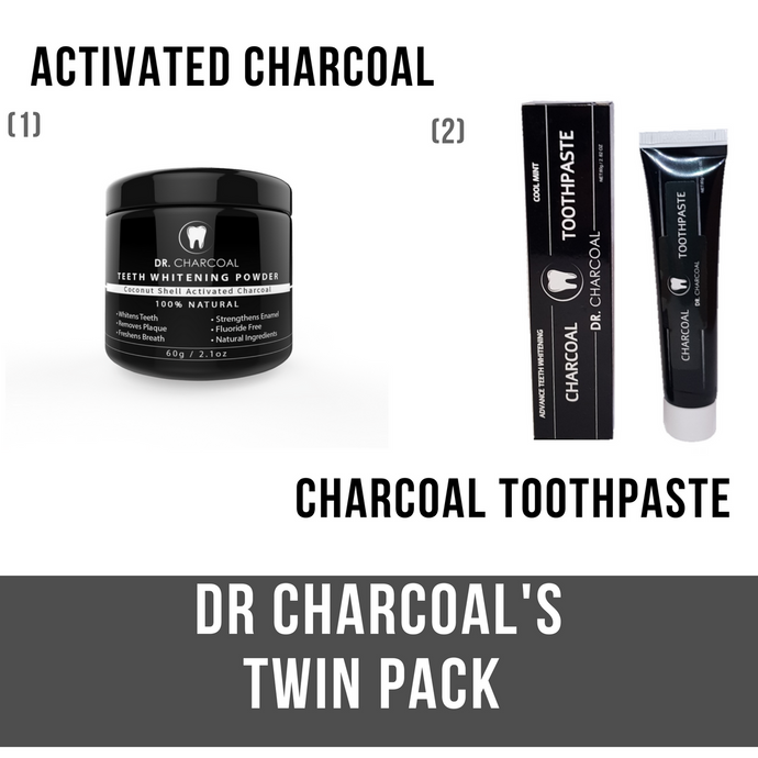 TWIN Pack - Teeth Whitening Powder and Toothpaste
