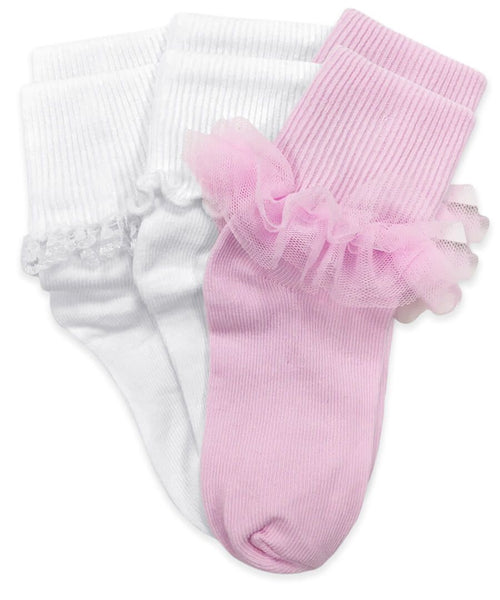 Ruffle and Ripple Edge Socks