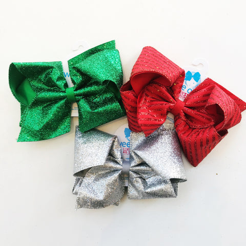 King Holiday Party Glitter Bow