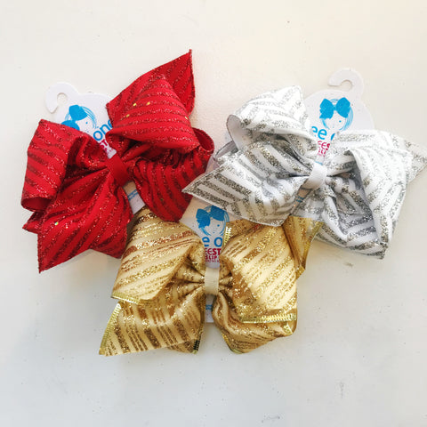 Mini King Fancy Sparkle Bow