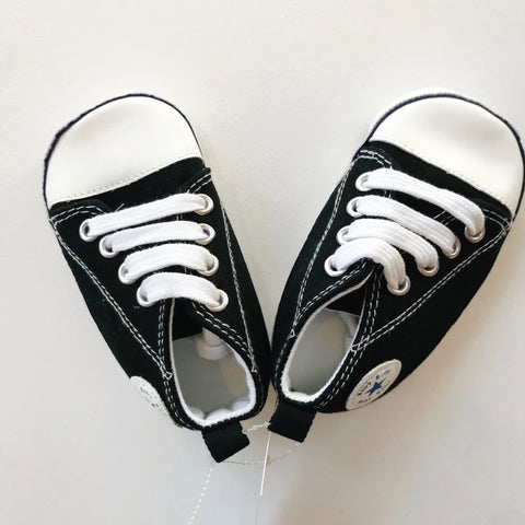 Black Baby Tennis Shoes