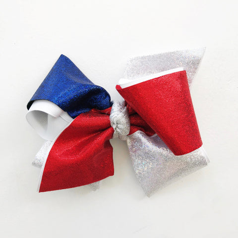 King Red, White, and Blue Bow