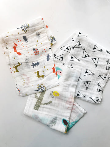 Cotton Muslin Baby Swaddles