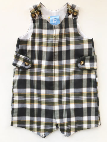 Webb Baby Shortall - Hunter Plaid