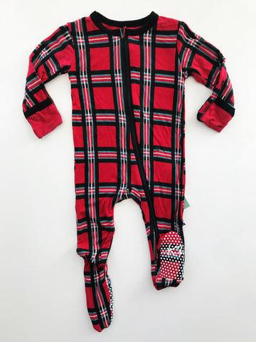 Kickee Pants Winter Plaid Footie