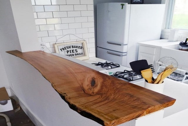 Inspiration Gallery: Adding Character in the Kitchen with Live Edge Furniture