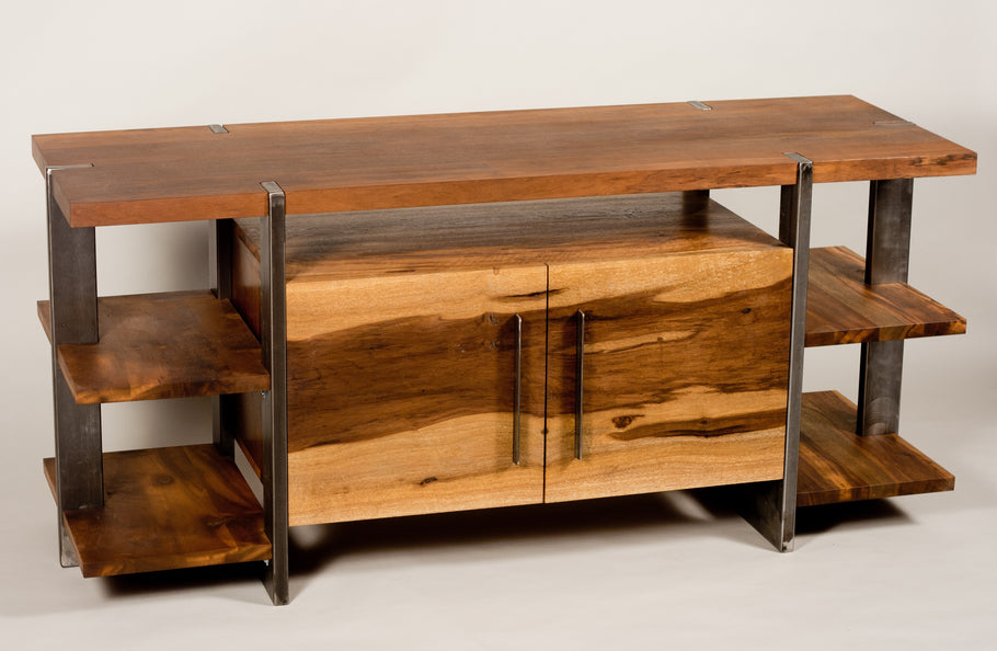 Wood And Metal Living Room Furniture