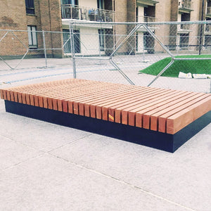 Outdoor Platform Bench