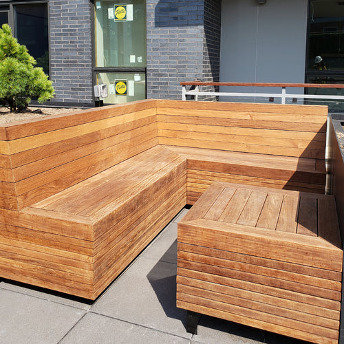 Brazilian Walnut Outdoor Nook Bench
