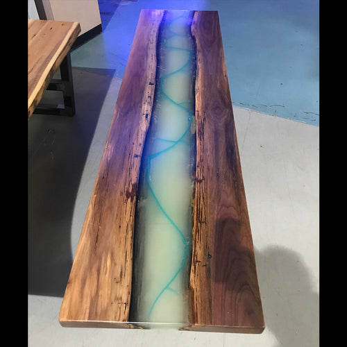 Glow in the Dark Live Edge Coffee Table