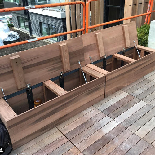 Redwood Storage Bench