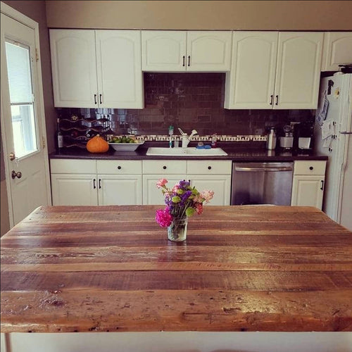 Reclaimed Kitchen Island Top