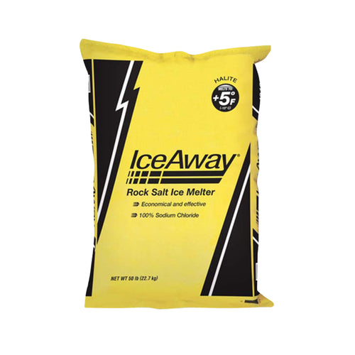 Ice Away Rock Salt Ice Melter (50LB)