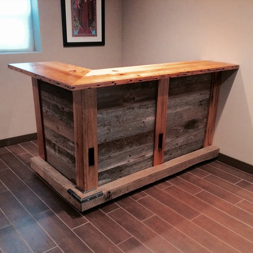 L-Shaped Reclaimed Bar