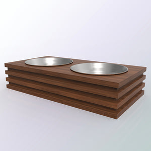 Walnut Wood Food Bowl