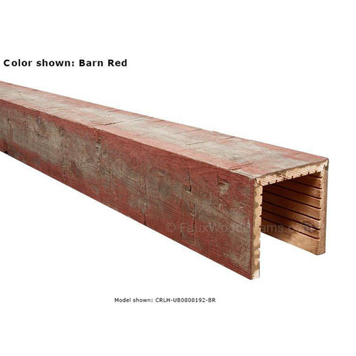 5' Mitered Reclaimed Wood Beam (Red)