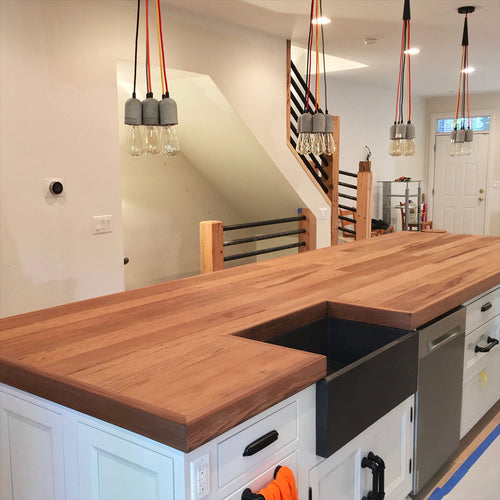 Redwood Kitchen Island