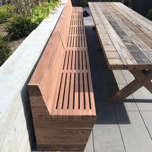 20' Redwood Indoor/Outdoor Bench