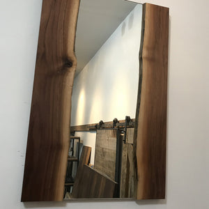 Live Edge Walnut Wall Mirror