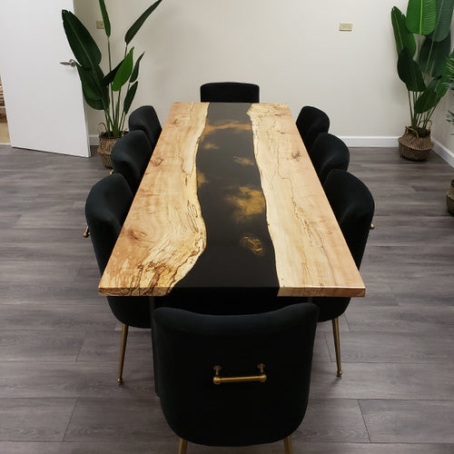 Spalted Maple Epoxy River Conference Table