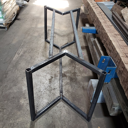 Geometric Steel Table Base