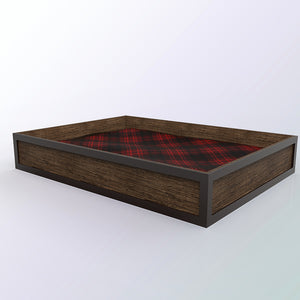 reclaimed wood dog house | Reclaimed Wood | Pet Furniture | Pet Home | Walnut Wood Dog Bed Platform
