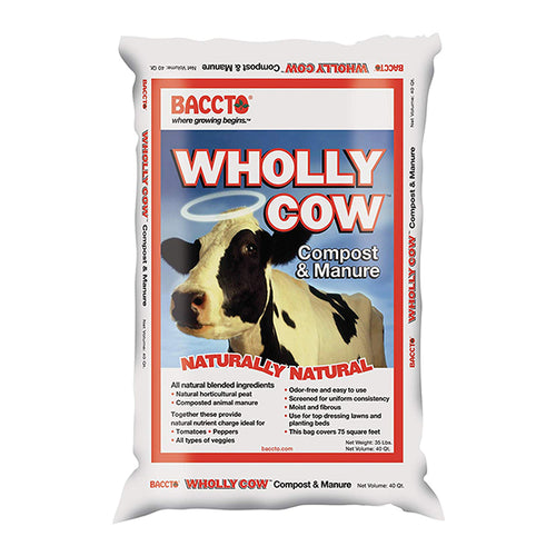 Baccto Wholly Cow  Organic Manure – Compost (40 qt.)