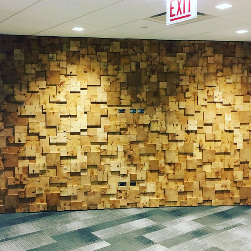 End Grain Accent Wall