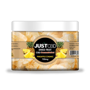 JustCBD Dried Fruit - Pineapple