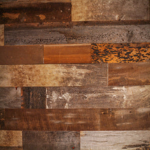 Brown Reclaimed Barn Wood Wall Panel- Easy Peel and Stick Application (20 Sq Ft, Reclaimed Barn Wood)