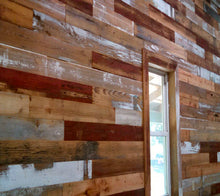 Red and Gray Barn Wood Paneling, 20 sq. ft.
