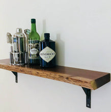 "Walnut Live Edge Shelf, 36""L x 6"" -12""W"