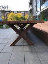 16ft Solid Wooden Reclaimed Redwood Long Table From Chicago Water Tower For Both Indoor And Outdoor Use