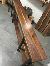 Beautiful Modern Design Walnut Table Top With Hardwoods Custom Steel Tube Base