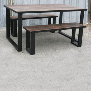 Oakwood Table and Bench Set