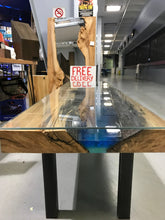 Epoxy Resin Coffee Table with a Glass Top