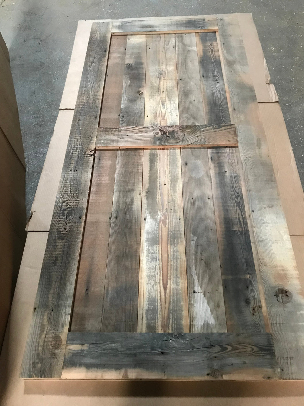 84 Inches long Brown Color Reclaimed Barn Wood Door