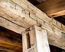 "10"" x 9"" rough reclaimed barn wood beams made from mixed hard woods"