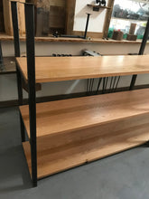 Ceiling Mounted Shelving System Steel and Oak
