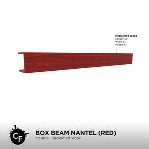 Box Beam Mantel (Red)