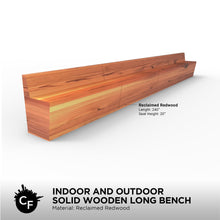 Indoor and Outdoor Solid Wooden Long Bench